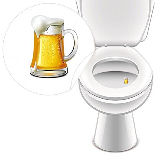 WC-stickers, bierglas, toiletstickers voor gastronomie, uitrusting, knie, pissior, grappige decoratie, LK-Trend & Style, 10 stuks
