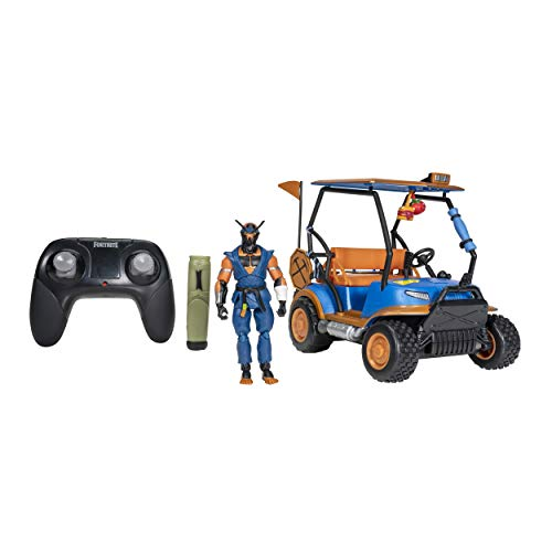 "Fortnite Stinger Wrap ATK Deluxe Feature Vehicle - 10"" All Terrain Vehicle with Remote Control, Includes 4"" Copper Wasp Articulated Figure and 1 Power Punch Harvesting Tool"