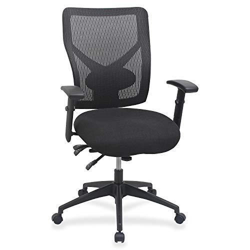 Lorell Multi-Task Control Mesh Back Chair, 42' x 28.3' x 26.3', Black