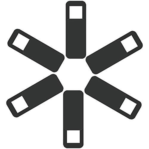 Capa deslizante para webcam, capa para câmera de laptop de 0,02 polegadas, ultrafina, compatível com smartphones Echo Spot, tablets, MacBooks, computadores, desktops com forte firmeza, proteção de privacidade e segurança