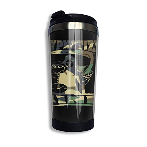 SHIJIAN Hm Logo camuflaje sudadera con capucha (2) taza de café de viaje taza de acero inoxidable con aislamiento al vacío, 13 onzas