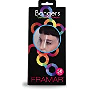 Framar Bangers Face Mask, Face Shield, Face Guard, Eye Shield, Transparent Forehead Protectors & Eye Mask for Hair Dye, Barber, Hair Color, Hair Cutting, Health Mask, Face Protector Mask - 50 Pack
