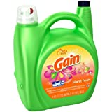 Gain Island Fresh Liquid Laundry Detergent 150 fl. oz. 3 Pack of Plastic Jugs, 450oz Total