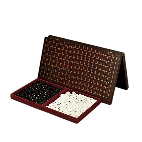 DEF Classic Go Chess Game Set, mit einem Tablett und zusammenklappbaren MDF Go Board Chess Go Game Board, Geschenke für Kinder und Teenager Strategiespiel (Color : Go Game(one Pair))