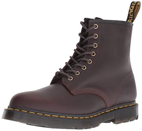 Dr. Martens 24038247 1460 Herren Boots aus Glattleder Lederfutter Gummisohle, Groesse 45, Dunkelbraun