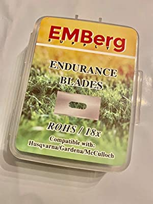 EMBergSupply Endurance Blades for All Husqvarna Automower/Gardena Robotic Lawnmowers, with Screw (Titanium)