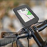 EliveSpm Borsa per Manubrio Bici Mountain Bike Nero per Bici da Strada Custodia per Telefono Impermeabile Anteriore per Bicicletta con Tracolla Rimovibile e Custodia Trasparente toccabile