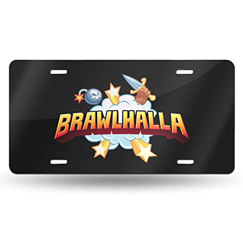 Brawlhalla License Plate for Cars 12x6 Personalized Aluminum Novelty Cool Decorative Car Vanity Tags