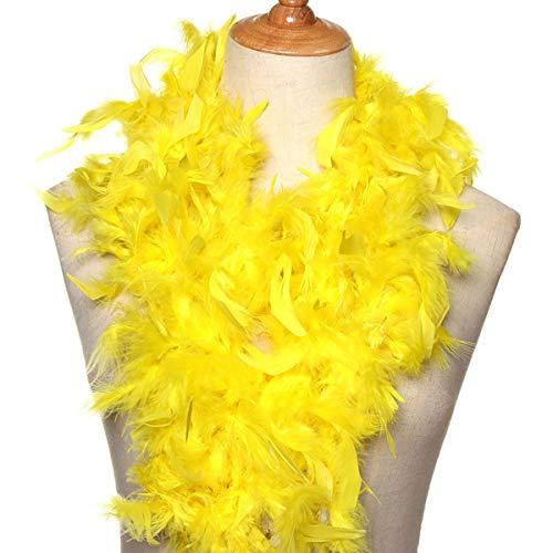Axing Feder-2M Kostüm-Abendkleid-Partei-Decoration Wedding Supplies Feder Bekleidungszubehör Streifen Bekleidung Stoff (gelb)
