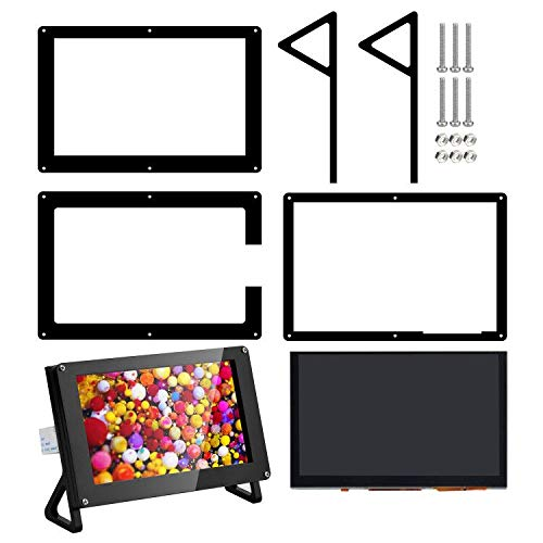 OSOYOO 5 Inch DSI Touch Screen 800x480 LCD Display with Portable Mount Stand Holder Case for Raspberry Pi 4B 3B 3B+ 2 | Plug and Play Monitor Compatible w Raspbain Ubuntu Kali RetroPie Windows 10 IOT