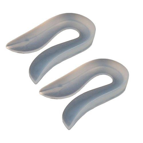 LUOEM Insérer Silicone U En Forme de Insert Taller Pad de Pied Talon Protecteur Gel Pieds Soins Semelle Taille L