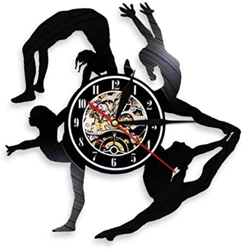 Reloj de Pared de Vinilo Jiu-Jitsu Art Reloj de Pared con Disco de Vinilo Regalo Creativo Niños y niñas Adolescentes Amigos Diseño de Arte único Reloj de Pared de Vinilo 12 Pulgadas