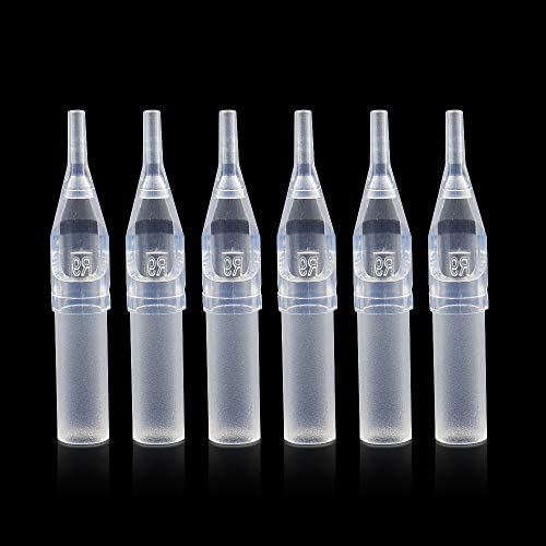 Disposable Tattoo Tips Yuelong 100pcs 9RT Disposable Clear Tattoo Tips Tubes 9 Round Tips for product image