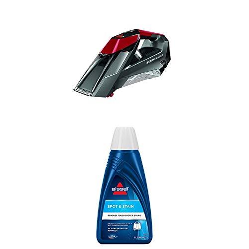BISSELL 2005N Stain Eraser Flecken-Reinigungsgerät für Teppiche und Polster, kabellos, 7,2 V + Spot & Stain Reinigungsmittel für SpotClean und andere Flecken-Reinigungsgeräte, 1 Liter