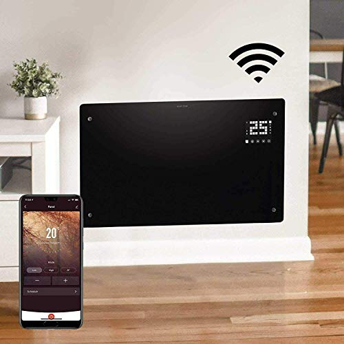 Devola WiFi Enabled Electric Glass Panel Heater 24 Hour 7 Day Digital Timer...