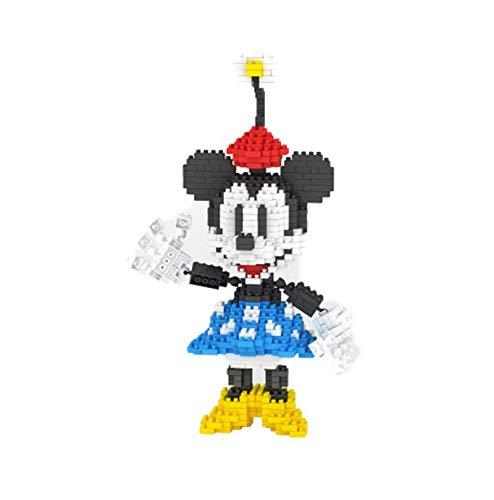 BAIDEFENG Nano Juego De Bloques De Construcción para Niños Modelos De Mickey Mouse De Disney Micro Ladrillos Rompecabezas 3D Mini Juguetes Educativos DIY Regalo,A
