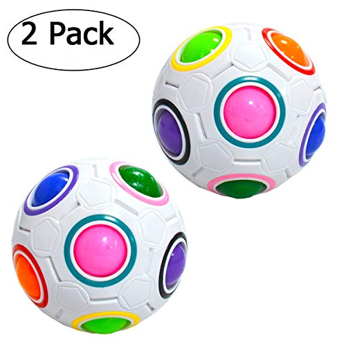 Maomaoyu Magic Rainbow Ball, Magic Cube Speed Puzzle Ball velocità Magico Cubo Stress Alleviare Giocattolo (2 Pezzi)