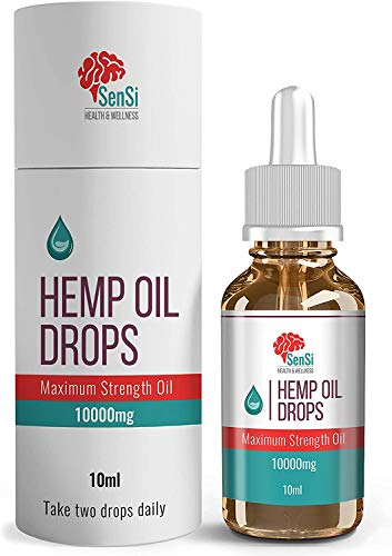 Hemp Oil Extract Drops 1000MG | High Strength | All Natural |Rich in Omega 3, 6, 9 | Herbal Anti-Inflammatory Supplement  Arthritis & Joint Pain Support  Sleep & Stress Relief Support – 10000MG