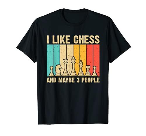 Cool Amantes del Ajedrez Arte Para Hombres Mujeres Juego de Tablero Jugadores de Ajed Camiseta