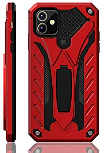 iPhone 11 Case | Military Grade | 12ft. Drop Tested Protective Case | Kickstand | Wireless Charging | Compatible with Apple iPhone 11 - Red