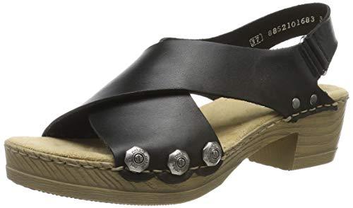 Rieker Damen V6888-00 Geschlossene Sandalen, Schwarz (Schwarz 00), 40 EU