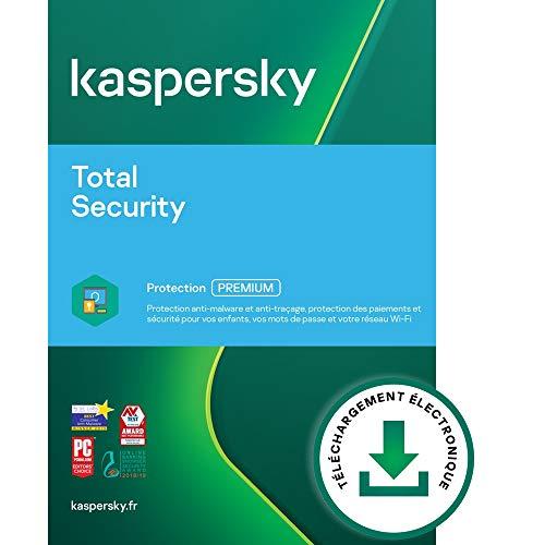 Kaspersky Total Security 2021 | 3 Appareils | 1 An | Windows/Mac/Android | Code d'activation – Envoi par Email