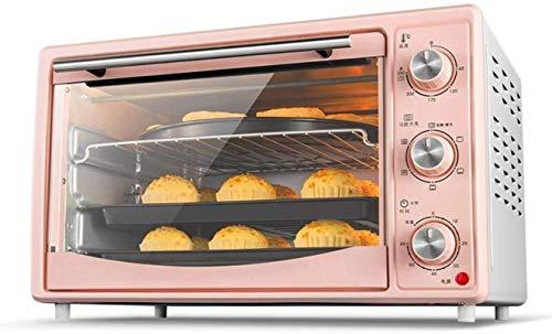 30L Mini horno rosa Temperatura ajustable 60-250 ℃ Y 60 minutos Tiempo de tiempo Multifunción Multifunción Función de horquilla / Fermentación