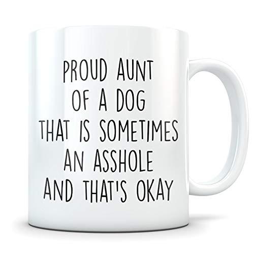 DKISEE Dog Aunt Gift, Aunt Dog, Dog Aunt Mug, Dog Auntie, Dog Auntie Mug, Dog Aunt Coffee Mug, Best Aunt Dog, Aunt Of Dogs, The Dog Aunt, K9 Aunt, 15 Oz Ceramic Novelty Coffee Mug Tea Cup, UGS1280