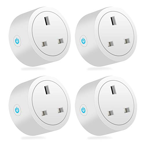 HerePow Smart Plug WiFi Outlet Plug Compatible with Alexa, Google Home, Wireless Socket Remote Control Timer Plug Switch, 4Pack, 16A,2.4Ghz Only (New)