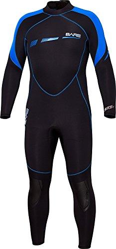 Bare BA-002170BLU Traje de natación, Negro/Azul, S