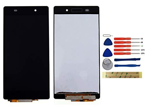 Yixi Pantalla para Sony Xperia Z2 L50W D6502 D6503 Pantall LCD Pantalla Táctil Negro Repuesto de Pantalla Recambio (sin Marco)