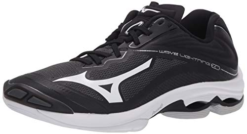 Mizuno Women's Wave Lightning Z6 Volleyball Shoe, Blacksilver, 8 B US