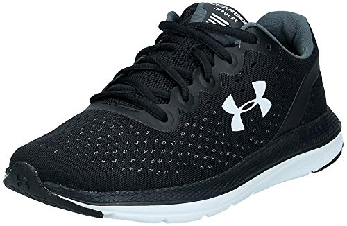 Under Armour Women's Charged Impulse Running Shoe,Black (002)/White, 11