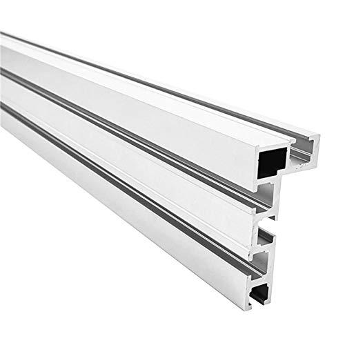 POHOVE T-Schiene, 400 mm, 75 Typ-T-Schienenbefestigung, Zaun Vorrichtung, T-Nut-Gehrungsschiene, Aluminium-T-Schiene für Holzbearbeitung, Bank, modifizierte RU Säge für Tischplatte