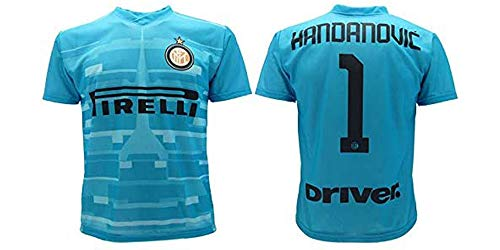 L.C. Sport srl Trikot Handanovic Inter 2020, Hellblau, offizielles Produkt, Saison 2019 2020, zugelassene Replika, Torwart Home Samir 1 (6 Jahre)