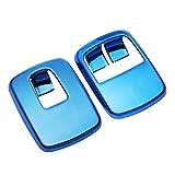 OutdoorKing Interior Automóvil Modificado Ventana Elevación Ventana Accesorios Decorativos Acero Inoxidable para Nuevo para S-Mart 453 2 Piezas/Set Ajuste Etiqueta engomada Panel (Color : Azul)