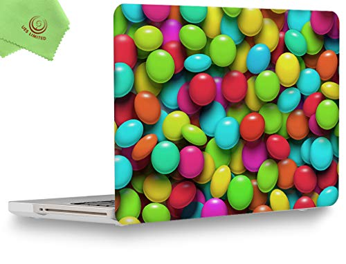 UESWILL Creative Design Smooth Touch Hard Shell Case Cover for MacBook Pro 13 inch with CD-ROM (Non-Retina) (Model A1278) + Microfibre Cleaning Cloth, Colourful Candy