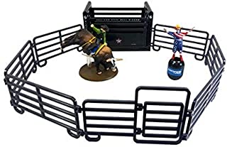 Big Country Toys PBR Rodeo Set - 1:20 Scale - Bushwhacker The Bull - Flint Rasmussen - Rodeo Toy Set