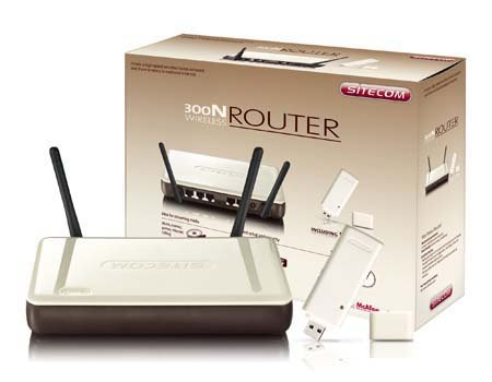 Sitecom WL-575 Wireless Router 300N + USB Adapter Bundle WL-575 + USB Adapter