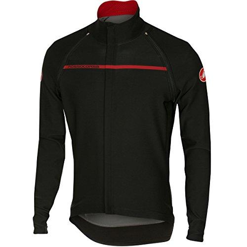 Castelli Chaqueta de Hombre, Perfetto convertibile Jacket, Negro