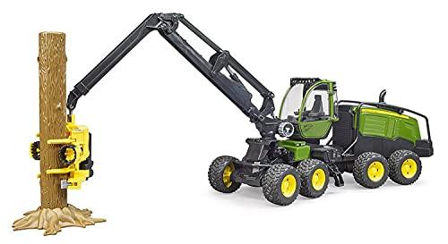 Bruder 02135 - John Deere 1270G Harvester mit 1 Baumstamm
