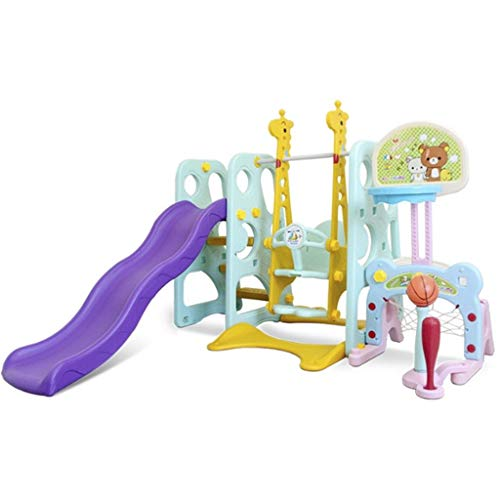 Xuways Toys 6-in-1 Climber Slide Playset Baby Swing Kids Playset for Backyard and Indoor Gift Toys for Kids Childs Boys Girls
