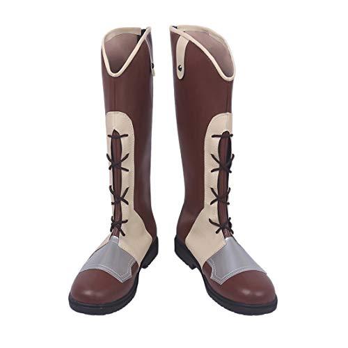 YYFZ Anime Cosplay Schuhe Maskerade-Partei-Boots Karneval-Partei-Schuhe Herren Braun Stiefel Modifizierte Version,Men's size-43