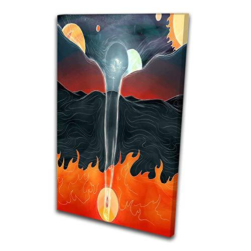 Quadro Decorativo Encontro Do Ceu e o inferno