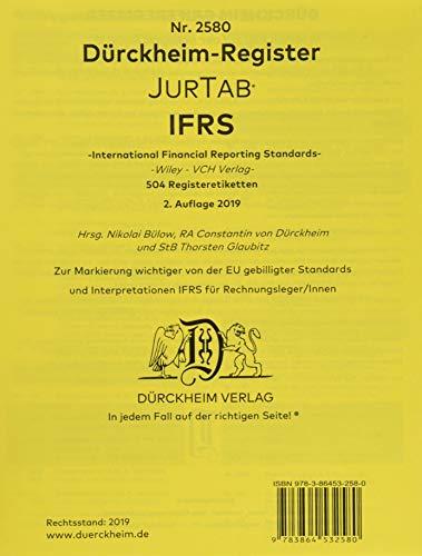 DürckheimRegister IFRS / IAS (2020): 480 Registeretiketten (sog. Griffregister) für IFRS/IAS, z.B Wiley nur Art/§§ und Zahlen ohne Stichworte • In jedem Fall auf der richtigen Seite