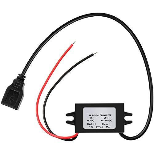 12V à 5V DC Module Convertisseur Buck USB Adaptateur d'alimentation de Sortie DC Régulateur de Convertisseur Secteur Régulateur DC à DC Convertisseur de Puissance de Voiture (1)