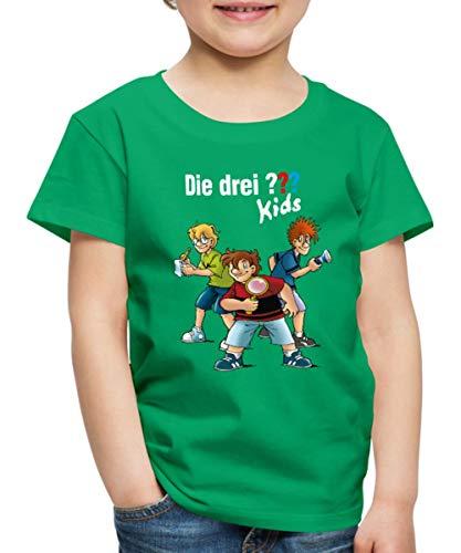 Die DREI Fragezeichen Kids Detektive Spürnasen Kinder Premium T-Shirt, 134-140, Kelly Green