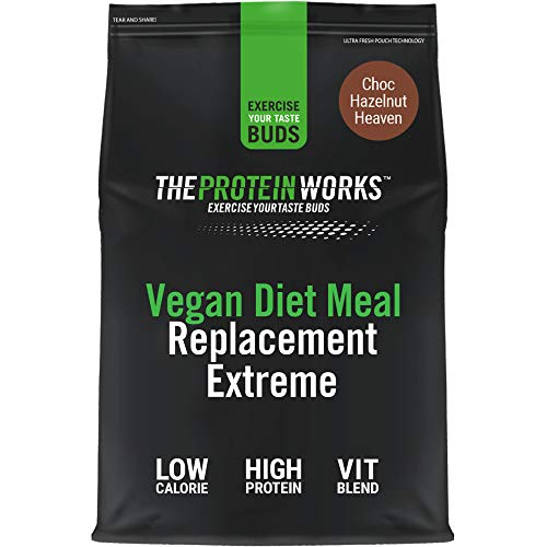 Vegan Diet Meal Replacement Extreme | Low Calorie, Weight Loss Shake | Essential Vitamins & Minerals | THE PROTEIN WORKS | Choc Hazelnut Heaven | 2kg