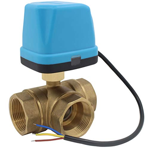 3 wege motorkugelhahn 230v - ventil elektrisch kugelventil elektrisch 220v - 1/2 3/4 1 1-1/4 1-1/2 2 zoll (DN32-1-1/4 zoll)