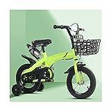 Bicicleta para Niños, Niños Y Niñas De 2 A 9 Años 12/14/16/18 Pulgadas Bicicleta De Estilo Libre Bicicleta para Niños con Hervidor De Agua Y Ruedas Auxiliares,14inch